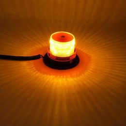 Round Amber Light NZ - Car Truck Round LED Emergency Beacon Strobe Light Magnetic Warning lamp Safety Lights w  12v Plug Amber