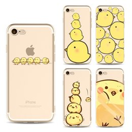 $enCountryForm.capitalKeyWord NZ - For iphone 7 case cartoon cute yellow chick TPU painting phone cases ultra thin silicone back protective cover shell for iphone 6S 7 Plus 5S