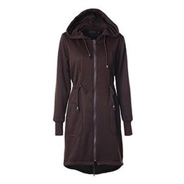 Womens Thick Cardigans UK - New Womens Winter Casual Zip Up Coat Hoodie Cardigan Outwear Jacket