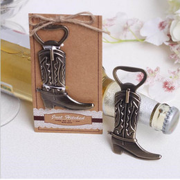 Chinese  Creative Bottle Opener Hitched Cowboy Boot Western Birthday Bridal Wedding Favors And Gifts Party Cute Tool manufacturers