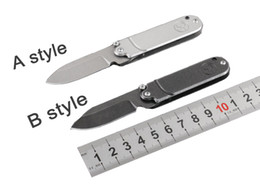 smallest keychain knife 2019 - Hiking Knife 2 Style 4.7 Inch Small EDC Folding Keychain Knife 5CR15MOV Blade Camping Hunting Knife Outdoor Gear B67L