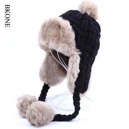 Faux Fur Fox Hat Canada - Wholesale- Women Trapper Hats Winter Warm Faux  Fox Fur d2129a705d3f