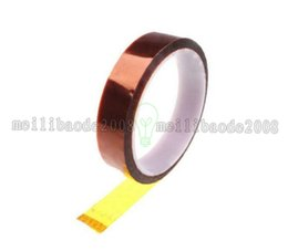 Chinese  NEW Kapton Tape Sticky High Temperature Heat Resistant Polyimide 25mm,50mm,10mm,20mm,30M B00137 OST MYY manufacturers