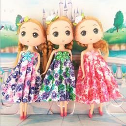 Car Customization NZ - 30Pcs Mix Style Cute Princess Girl Keychain Bride Dolls 18cm Pendant Bag Car Doll Toys Women Girls