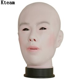 $enCountryForm.capitalKeyWord Canada - Top Grade 100% Latex Handmade Silicone Sexy And Sweet Full Face Female Mask Ching Crossdress Mask Crossdresser Doll Man&Women