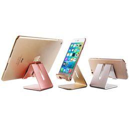 $enCountryForm.capitalKeyWord Australia - Universal Aluminum Alloy Metal Mobile Phone Tablet Desk Holder Stand for IPhone 7 7 Plus 8 Samsung S7 S8 Smartphone and Tablets Desk