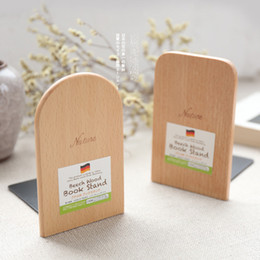 Discount desk book holder - 1 Piece (Not 1 Pair) Wood Bookend Bookshelf Desk Book Holder Stand,13cm x 8cm Office School Stationery Supplies