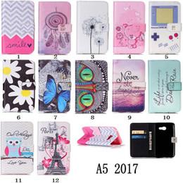 $enCountryForm.capitalKeyWord Canada - Owl Flower Camera Painted Wallet Stand Credit card Leather Case for Samsung Galaxy A3 A5 2017 LG V20 X Power SonyXA Goggle Pixel