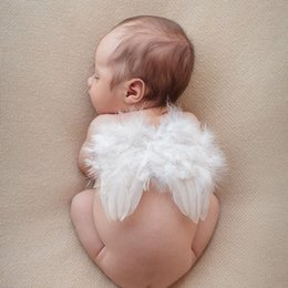 $enCountryForm.capitalKeyWord Canada - Lovely Baby Angel Wing Infant Newborn Photo Prop Baby Kids Fairy Feather Angel Wing Costume Set For Children