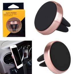 Discount car mount phone holder stand - Car Magnetic Air Vent Mount Mobile Smart Phone Holder Handfree Dashboard Phone Metal Stand For Cellphone iPhone 7 6 Sams
