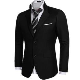 Hot Pink Formal Jacket Canada - Black color men's suit jacket formal wedding two grain of buckle hot sale high quality custom men's suit jacket