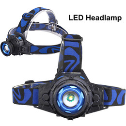 Flashlight Packaging NZ - New Headlamp LED Flashlight Adjustable 90 Degree Headlamp Zoomable Light For Hunting Camping Climbing with Retail Package DHL Free OTH341