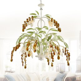 Wrought Iron Flowers UK - Crystal Trimmed Chandelier Wrought Iron Floral Chadelier Crystal Flower Chandeliers Lighting 8 light W72 X H62cm