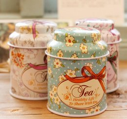 Tea caddies boxes online shopping - Europe type style Tea caddy receive box candy storage box wedding favor tin box cable organizer container household