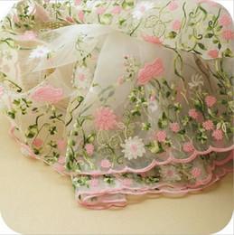 $enCountryForm.capitalKeyWord Canada - Hot Selling 5Yards LOT Water soluble gauze bud silk fabrics Water soluble lace Organza multi-color embroidery fabrics