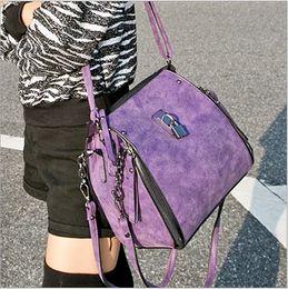 $enCountryForm.capitalKeyWord NZ - High Quality Fashion Women's Vintage Matte Leather Motorcycle Bag Shoulder Bag Double-used tide female Bag Hot