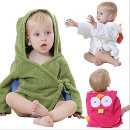 966b63e1d5 MICHLEY Baby   Kids Clothing Beautiful Cartoon Animal Style Hooded Bathrobe  Kids Towel Boys Girls Cotton Pajamas 7JY0241