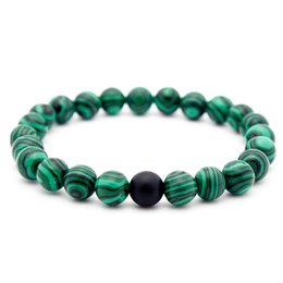 Free healing crystals online shopping - 8mm Malachit Bracelet Semi Preciou Styles Birthstone Healing Crystal Round Frosted Beads Lover Friend Stretch Bracelet Gift Free DHL B672S