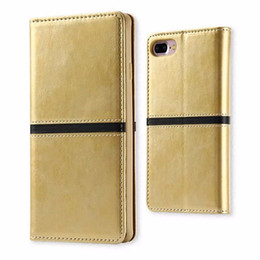 iphone folio Canada - Premium Wallet Flip Folio Case with Card Slots Magnet Closure Leather Case Cover for iphone 7