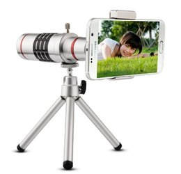 Mobile 18x Zoom Canada - 18x Mobile Phone Lens Universal 18X Zoom Telescope Camera Telephoto Lens for iPhone Zoom Telescope Magnifier Optical Lens 18X