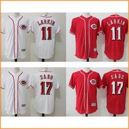 b95be3f9b ... Flexbase Mens Cincinnati Reds baseball jerseys 11 Barry Larkin 17 Chris  Sabo Majestic Scarlet Official Cool Base ...