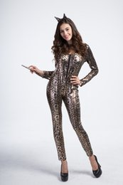 $enCountryForm.capitalKeyWord UK - New Arrival Leopard Catwoman Costumes Sexy Cat Eyes Zipper Jumpsuit Cosplay Halloween Theme Party Costume Game Clothing Hot Selling