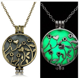 Brass censer online shopping - Vintage Silver Glow in The Dark Censer Aromatherapy Jewelry Essential Oil Diffuser Locket Pendant Necklaces for Women Jewlery Christmas Gift