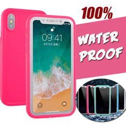 iphone sealed UK - 100% Sealed Waterproof Case Shockproof Underwater Diving Soft TPU Full Cover For iPhone XS Max XR X 8 Plus 7 6 6S 5 5S Samsung Galaxy S9 S7