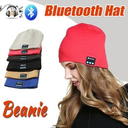bluetooth hat cap NZ - Bluetooth Hat Music Beanie Cap Bluetooth V4.1 Stereo wireless earphone Speaker Microphone Handsfree For iPhone X 8 Plus Samsung S8 Music Hat