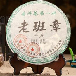Discount cha health - C-PE044 raw pu er tea cake green food Yunnan menghai puer tea 357g chinese sheng cha puerh tea for weight loss health ca