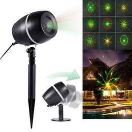 redgreen projector lights star laser landscape light moving galaxy show spotlight outdoor decoration for christmas party stage decoration