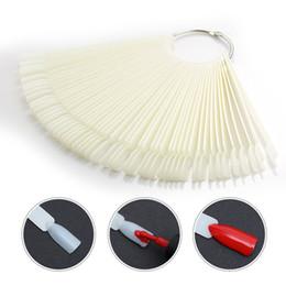 $enCountryForm.capitalKeyWord Canada - 50PCS False Nail Tips Fan-shaped Fake Nail Art Tips Polish UV Gel Sticker Decoration Display Tool Clear Natural Nail Salon Tool