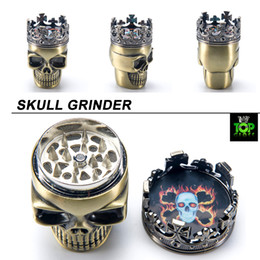$enCountryForm.capitalKeyWord Canada - Cheap metal herb grinder 3 Parts Dry Herbal smoking accessories Skull styled Zinc Alloy tobacco grinders for glass bongs free shipping
