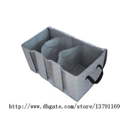 charcoal storage box Canada - Foldable Storage Bag Clothes Blanket Closet Sweater Organizer Box Charcoal for Sweater Sports Wear Socks 65L 60*35*30cm