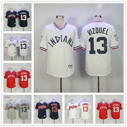 a15cd2a77a3 ... 13 OMAR VIZQUEL EUC Omar Vizquel Jersey Flexbase Cool Base Turn Back  Stitched Baseball Indians Jersey Grey White Blue Pullover ...