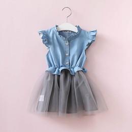 Wedding Dress Cyan NZ - Summer Newborn baby dress 1 Year Birthday dress Girl Casual For Wedding Party Princess Baby Dresses short sleeves