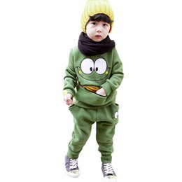 Barato Roupas Esportivas Grossistas-Wholesale- Baby Boys Girls Kid SportsWear Tracksuit Outfit Smiling Face Terno Unisex Autumn Spring