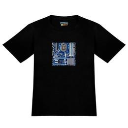 Motherboard Processors UK - Blue Computer Motherboard Processor CPU Men's Novelty T-Shirt 100% Cotton Short Sleeve O-Neck Tops Tee Shirts