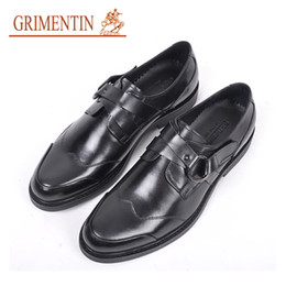 $enCountryForm.capitalKeyWord NZ - GRIMENTIN Hot Sale Italian Mens Shoes Genuine Leather Buckle Black Men Oxford Shoes Round Toes Fashion Formal business Mens Dress Shoes RC