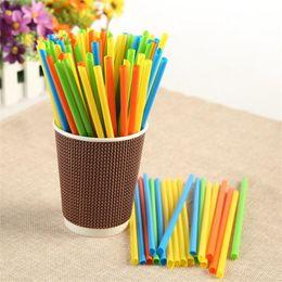 Green Plastic Straws Australia - Disposable Drinking Straw Colorful Black Fruit Juice Soybean Milks Sharp Head Straws Short Fine For Bar Night Club Use 1 2 bm ZZ