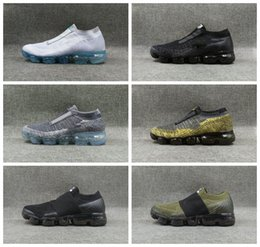 NyloN kNit fabric online shopping - 2018 Vapormaxs VM MOC Plus Sprite FK II Belt LACELESS Platinum FUTURISM Maxes Running Shoes Shock Rainbow Infant Airs Fly Knit Sneaker