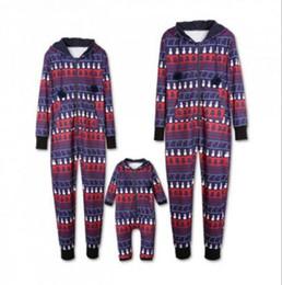 Men s juMpsuits online shopping - Christmas Family Matching Christmas Pajamas men Men Baby Kids Family Romper Jumpsuit Clothes Xmas Homewears KKA5977