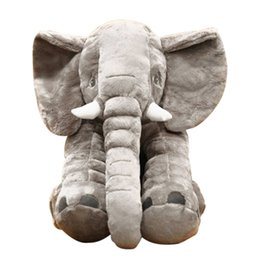 China 30CM Height Large Plush Elephant Doll Toy Kids Sleeping Back Cushion Cute Stuffed Elephant Baby Accompany Doll Toys for Children cheap elephants baby suppliers