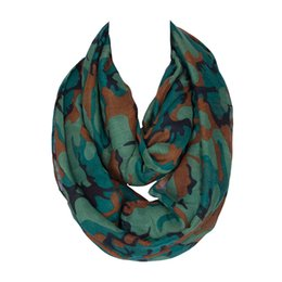ladies infinity ring UK - Green   Orange ! 2018 New Fashion Design Women Camouflage Printing Ring Scarf Lady Loop Scarfs For Women Infinity 175*45 Cm