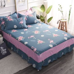 ruffle bedding 2019 - New Arrivals 100% Cotton Ruffle Bed Skirt King Queen Twin Size for Kids Adult Bed sheet Women Bedding Home discount ruff