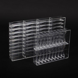 Wholesale New Clear Grids Make Up Organizer Acrylic Cosmetic Makeup Bracelet Holder Large Storage Box Powder Jewelry Shelf Escritorio