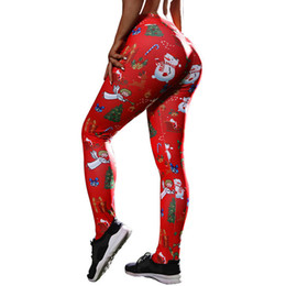 98bec853db Christmas Tree Print Leggings Feminina Christmas Casual Leggings Femme High  Waist Women'S Clothing S-Xl