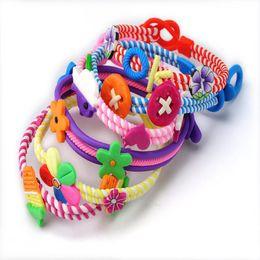 $enCountryForm.capitalKeyWord NZ - Wholesale 6PCS Jewelry Lots Polymer Clay Kids Baby Children Bracelets Wirst band