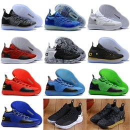 d8a4fe2d969 Kd 11 Shoes Canada - 2018 New KD 11 Basketball Shoes Black Grey Persian  Violet Chlorine