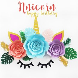 Thanksgiving Tables online shopping - Diy Party Decor Paper Flower With Multi Color Dessert Table Unicorn Backdrop Flowers Personality Artifact Exquisite jm3 jj